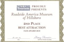 East Texas Tourism 2nd Place Best Attraction